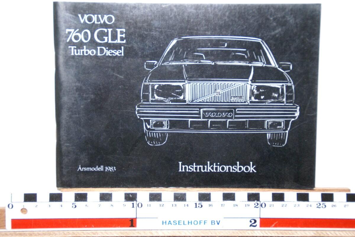 DSC02535 1983 instructieboekje Volvo 760GLE TD TP2343.2 1 van 1200