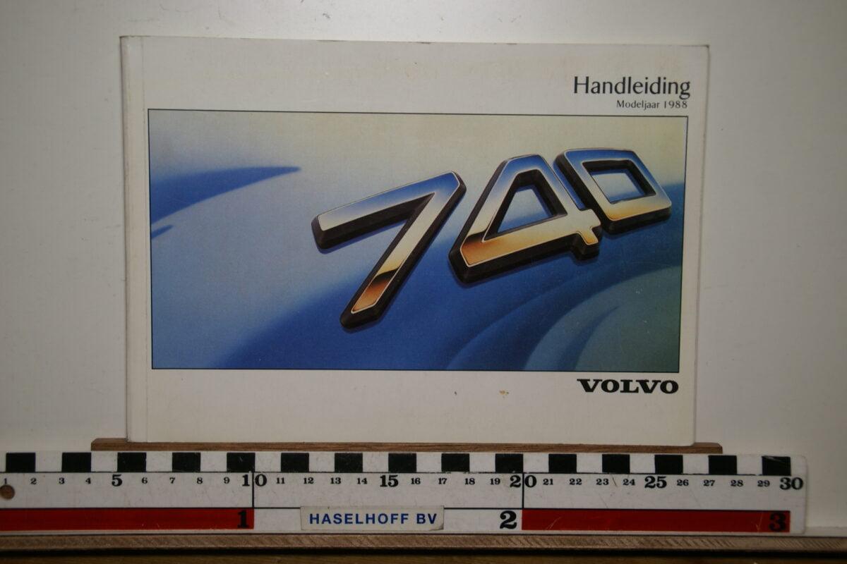 DSC02537 1988 instructieboekje Volvo 740 TP2822