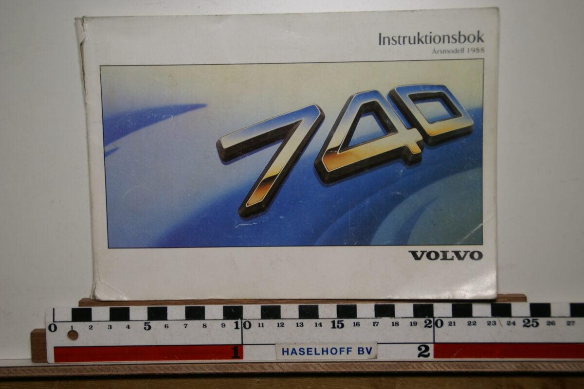 DSC02539 1988 instructieboekje Volvo 740 TP2818.2