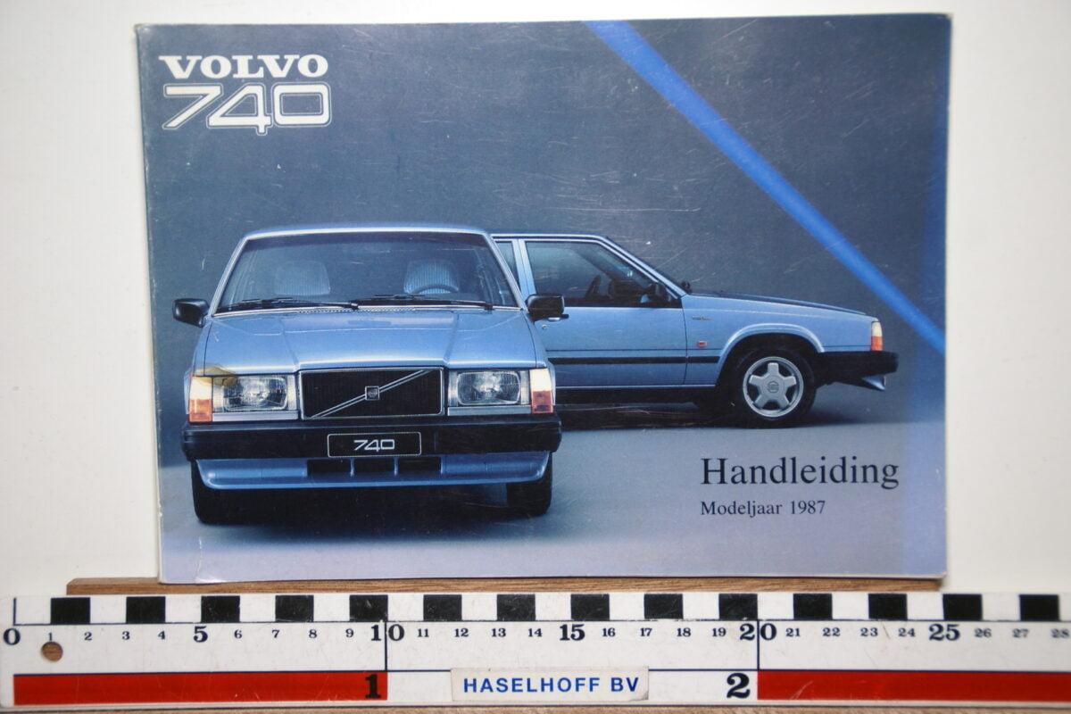 DSC02541 1987 instructieboekje Volvo 740 TP2765.1