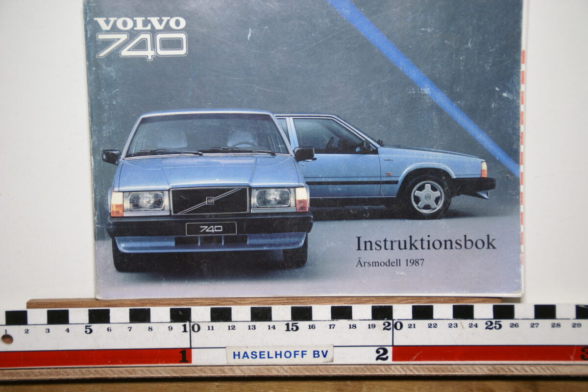 DSC02543 1987 instructieboekje Volvo 740 TP2760.2