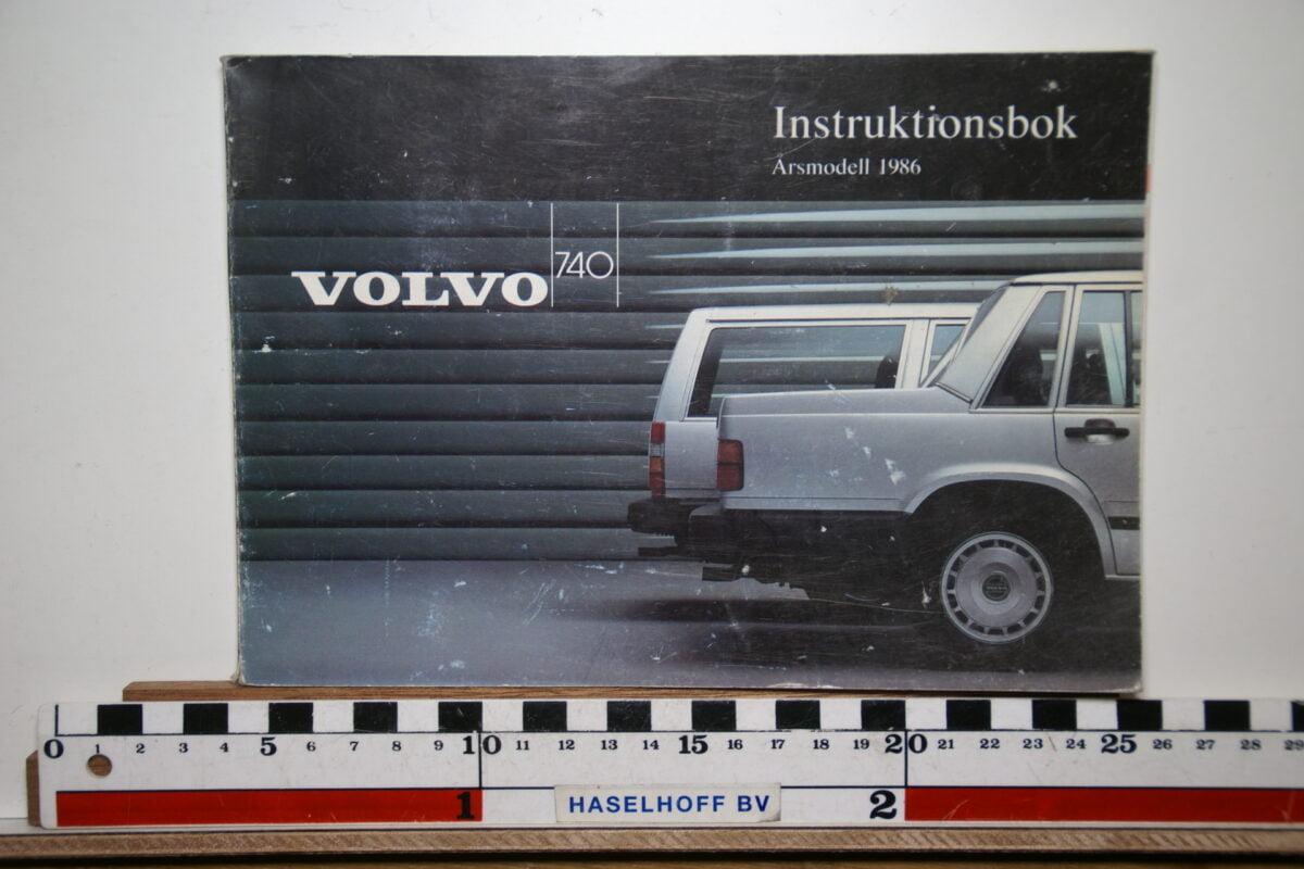 DSC02547 1986 instructieboekje Volvo 740 TP2632.2