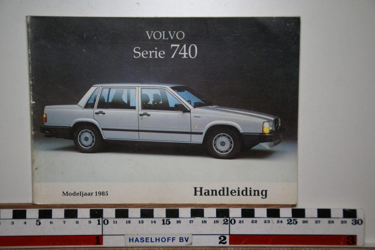 DSC02549 1985 instructieboekje Volvo 740 TP2558.1