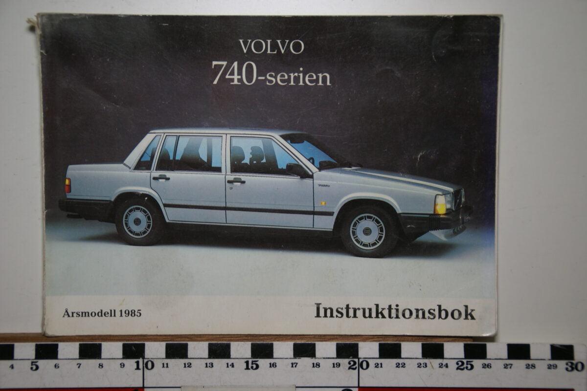 DSC02551 1985 instructieboekje Volvo 740 TP2553.1