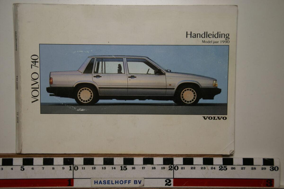 DSC02553 1990 instructieboekje Volvo 740 TP3036