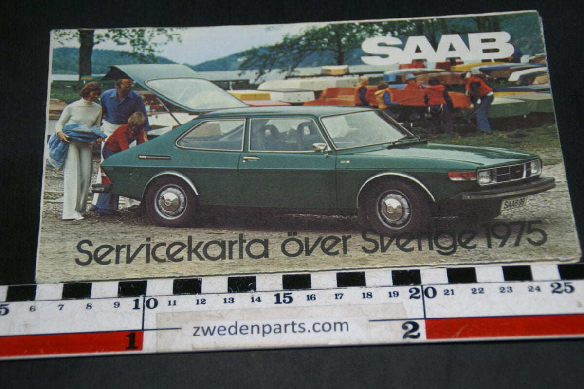 DSC04685 1975 Saab Servicekarta över Sverige