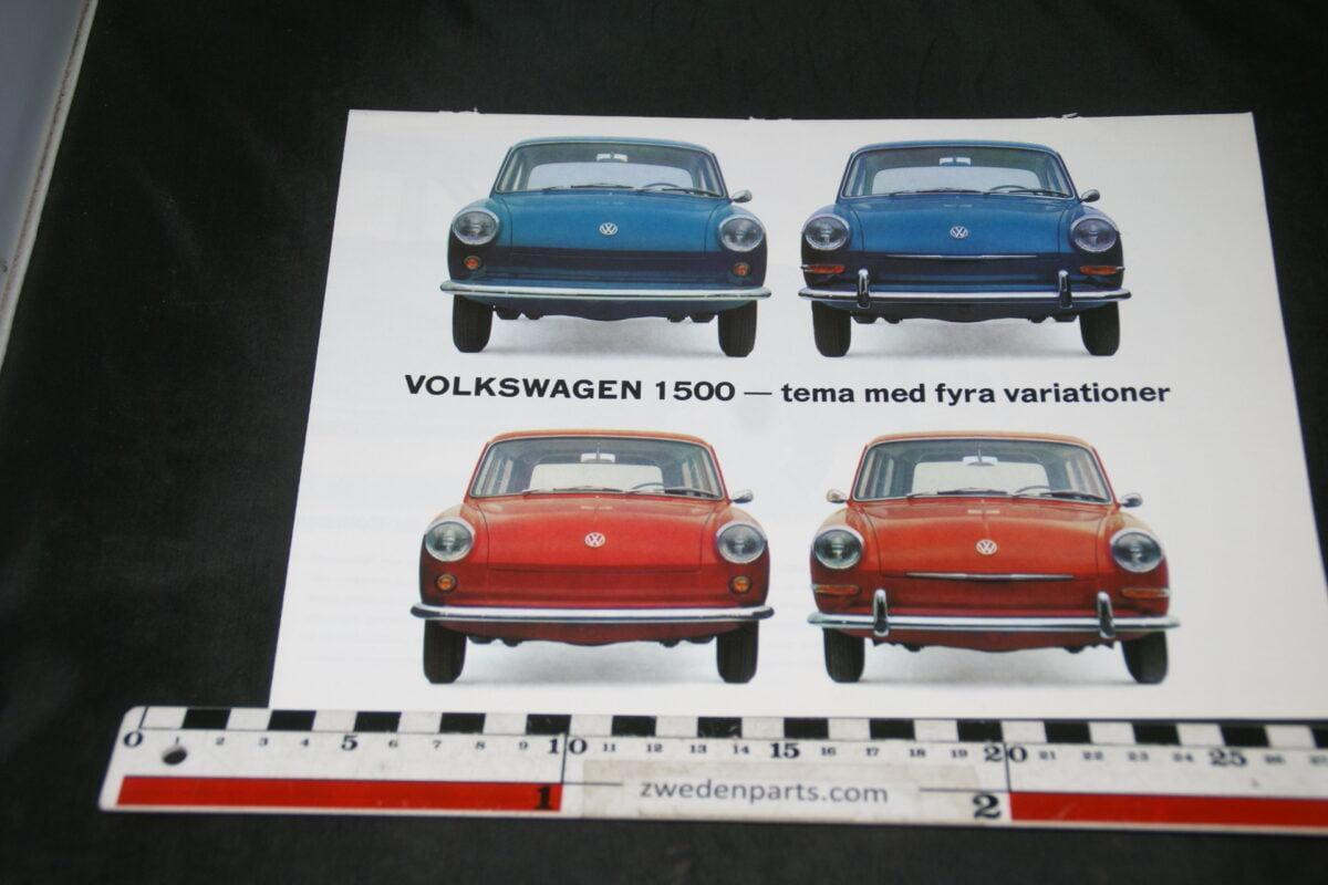 DSC04694 1963 brochure VW 1500  2379 Svenskt