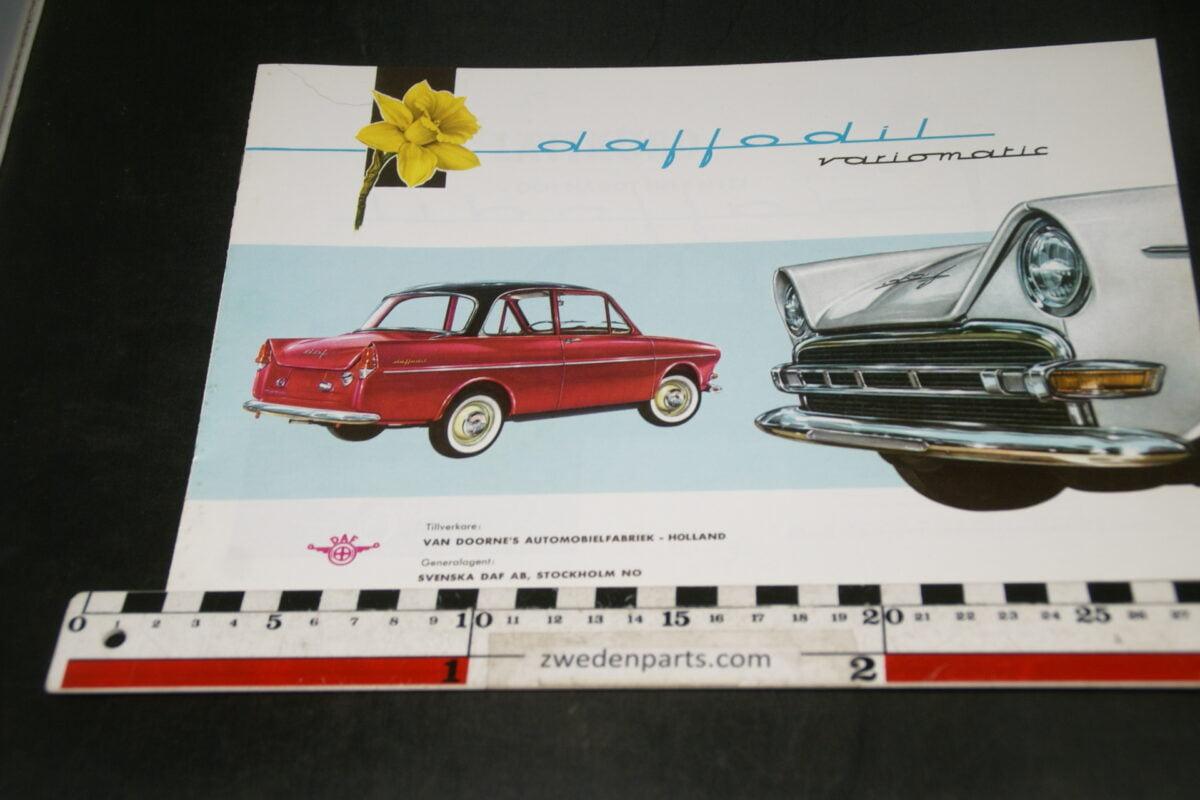 DSC04698 ca 1960 brochure DAF Daffodil Variomatic Svenskt