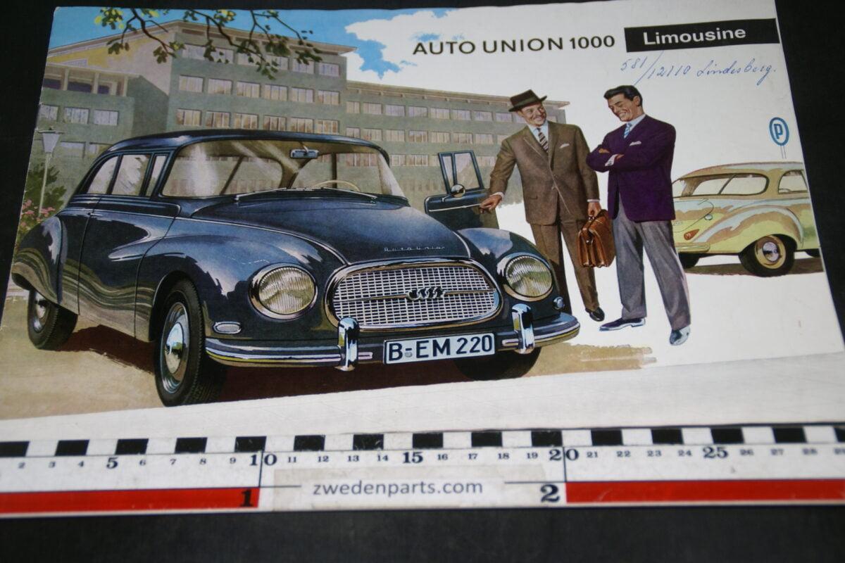 DSC04702 ca 1960 brochure AutoUnion Limousine 1000 WB2614 Svenskt