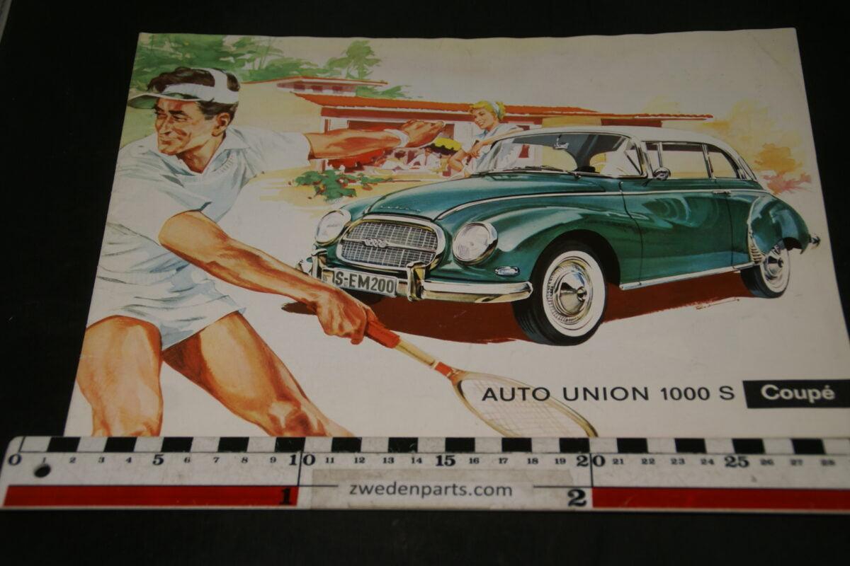 DSC04704 ca 1960 brochure AutoUnion 1000S coupé WB2615 Svenskt