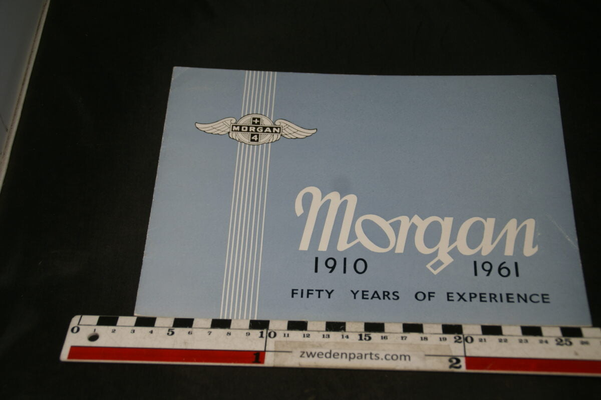 DSC04720 ca 1961 brochure Morgan +4 50 years of experience English