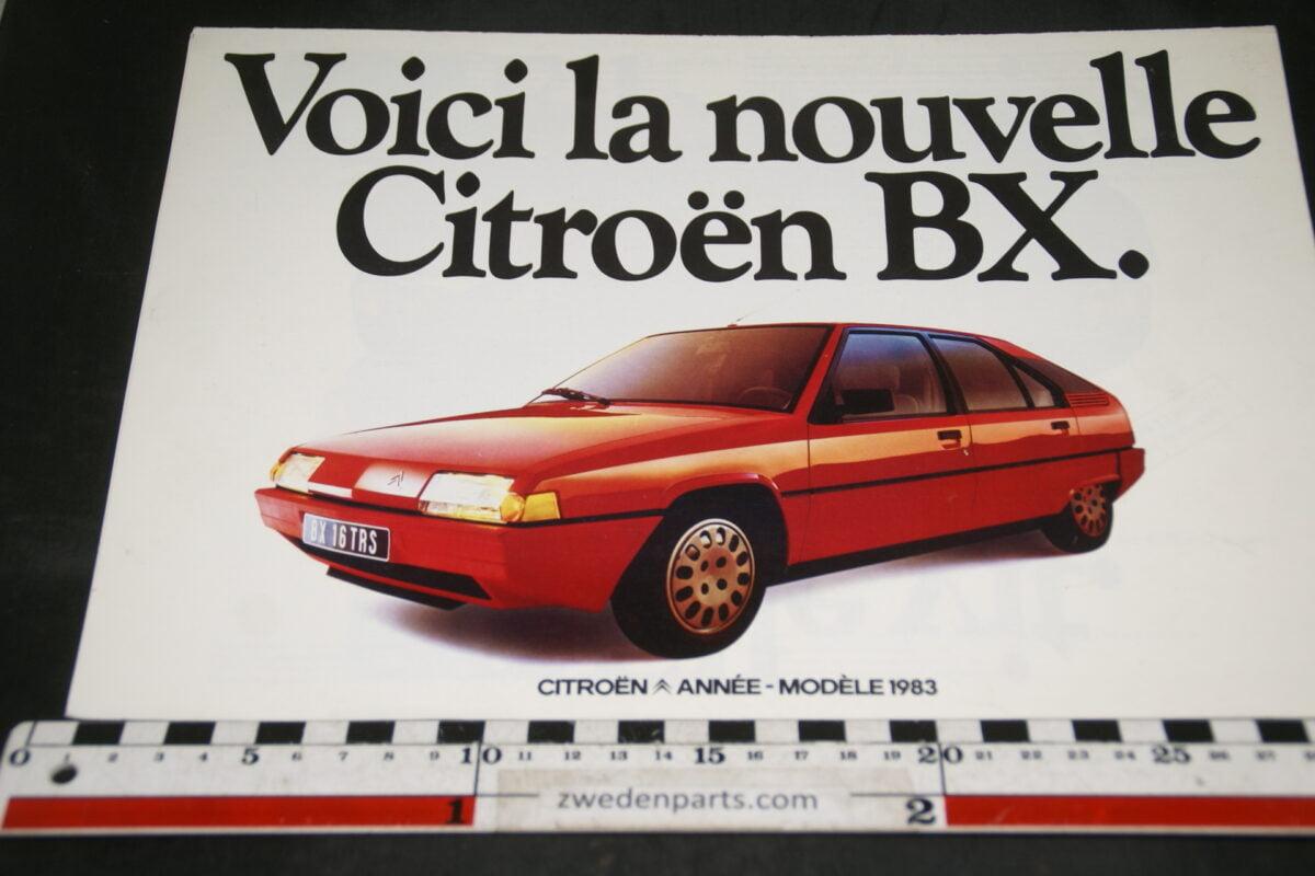 DSC04723 ca 1978 brochure Citroen BX Francais