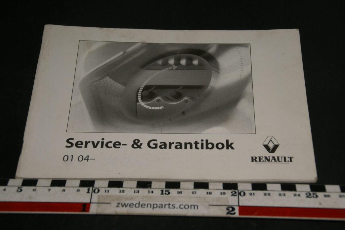 DSC04920 2004 Renault Service sn Gaerantieboek