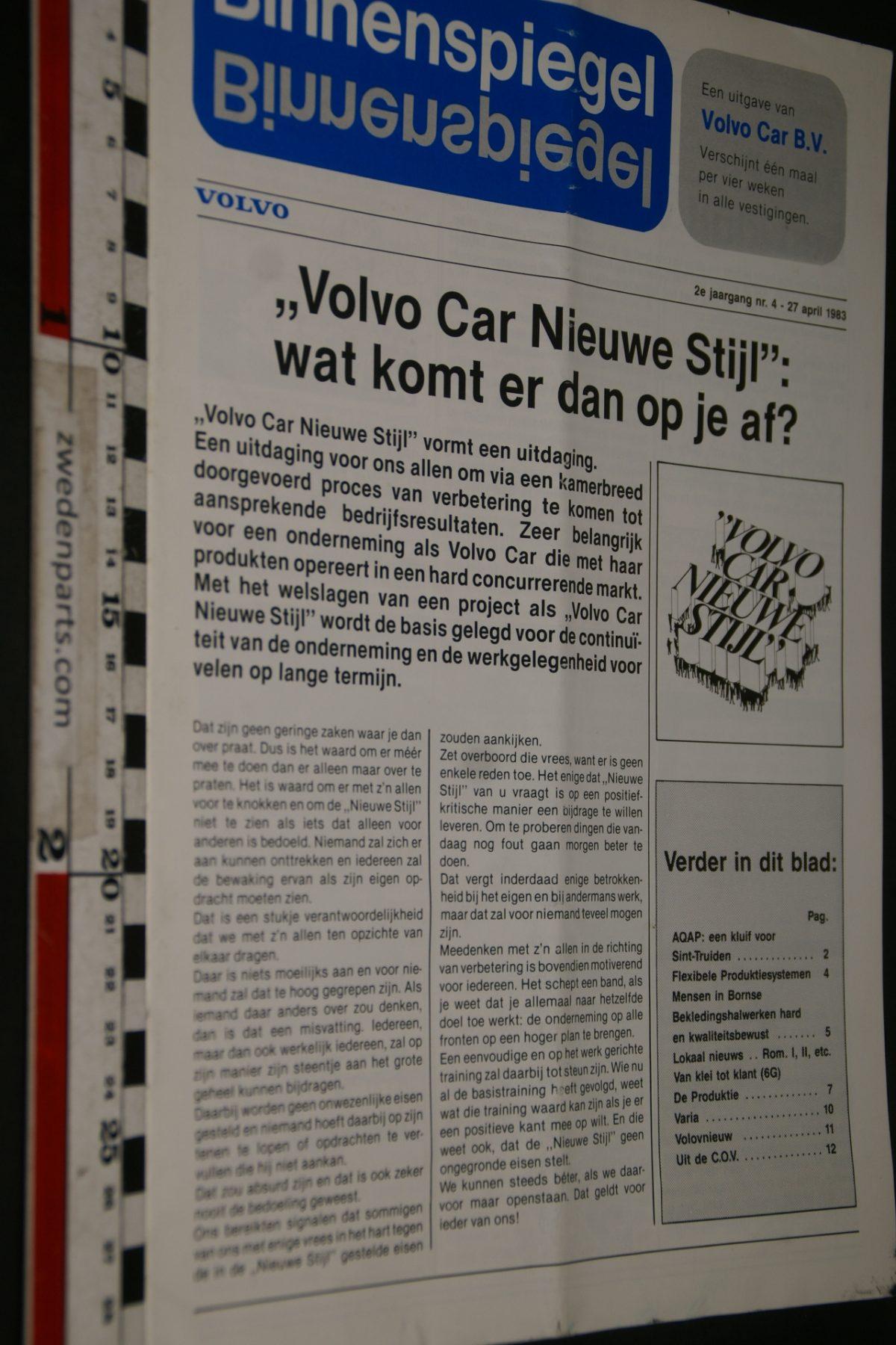 DSC05099 1983 tijdschrift Volvo Binnenspiegel nr 4