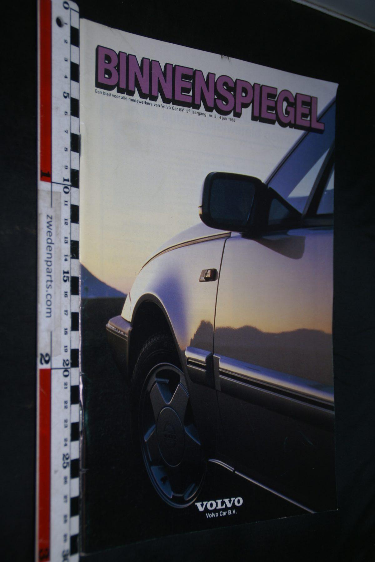 DSC05103 1986 tijdschrift Volvo Binnenspiegel nr 5