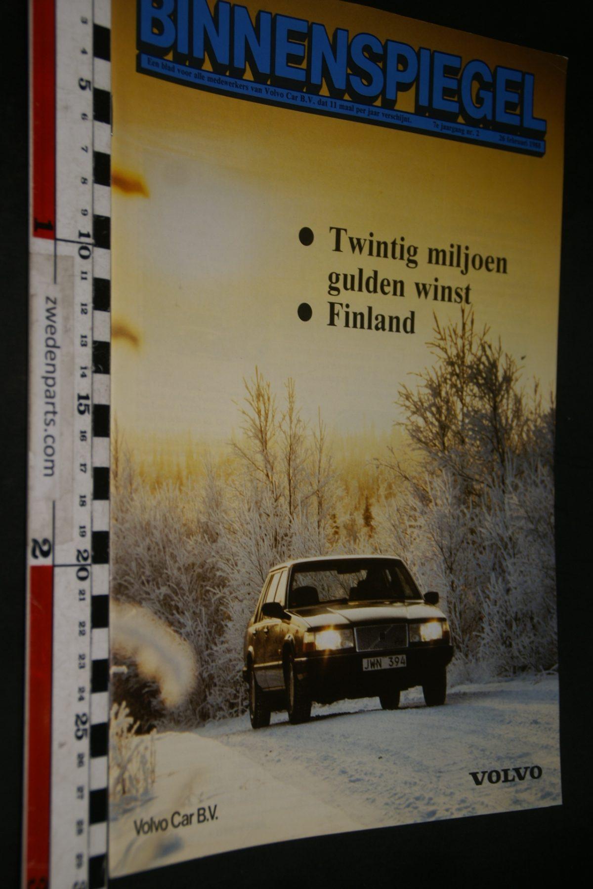 DSC05109 1988 tijdschrift Volvo Binnenspiegel nr 2