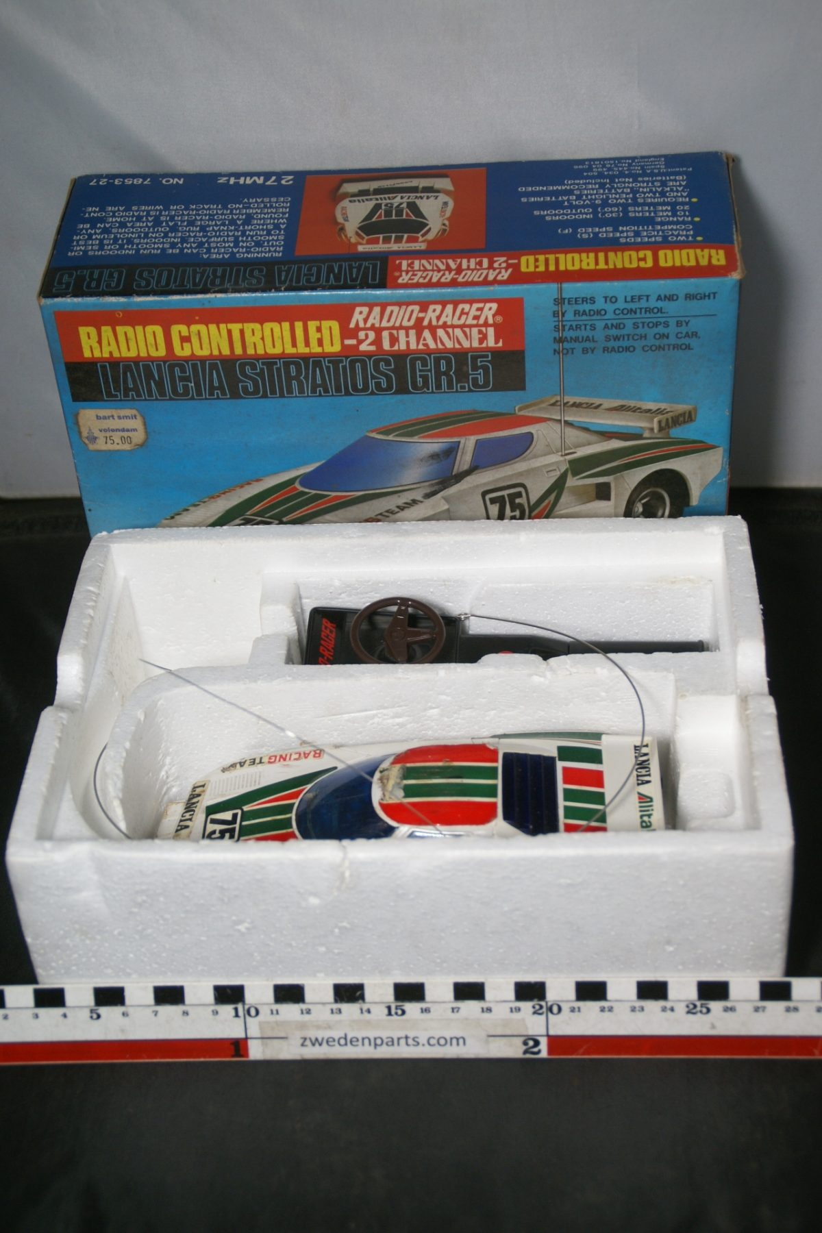 DSC05497 miniatuur Lancia Stratos Rally RC Radio Controlled ca 1op24 Mint nr 7853-27