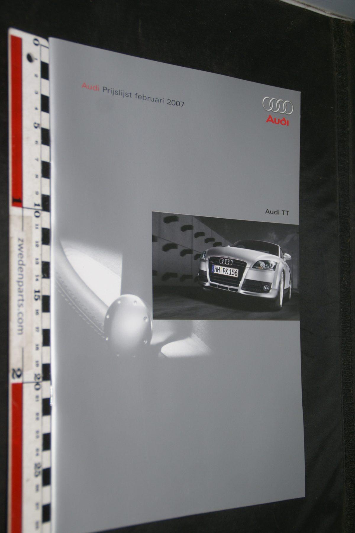 DSC05526 2007 brochure prijslijst Audi TT