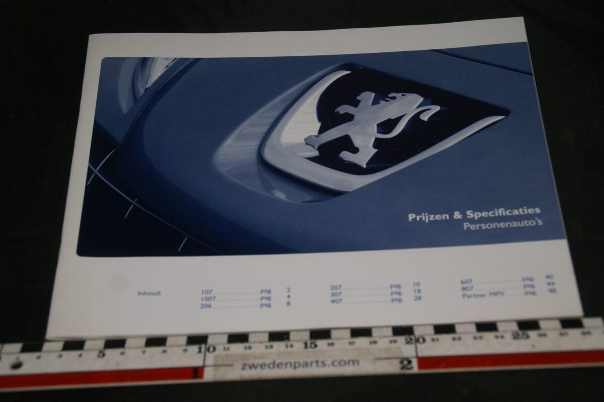 DSC05530 2007 brochure prijslijst Peugeot