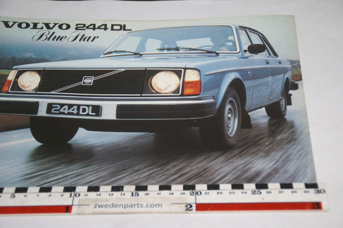 DSC05557 1978 brochure Volvo 244DL Blue Star nr RSP-PV 5699
