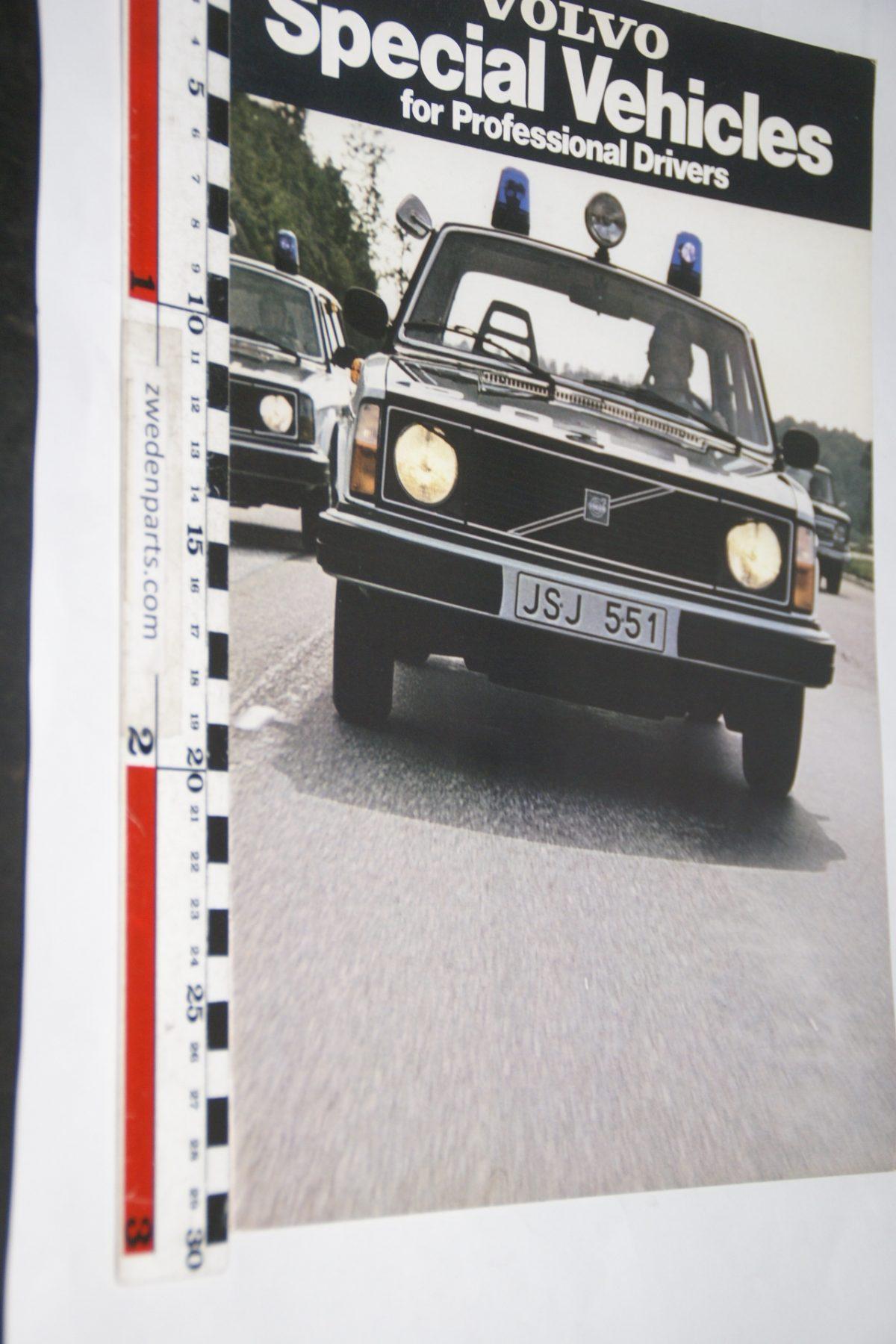 DSC05561 1978 brochure Volvo 240 Special Vehicules nr ASP-PV 5443 Engels