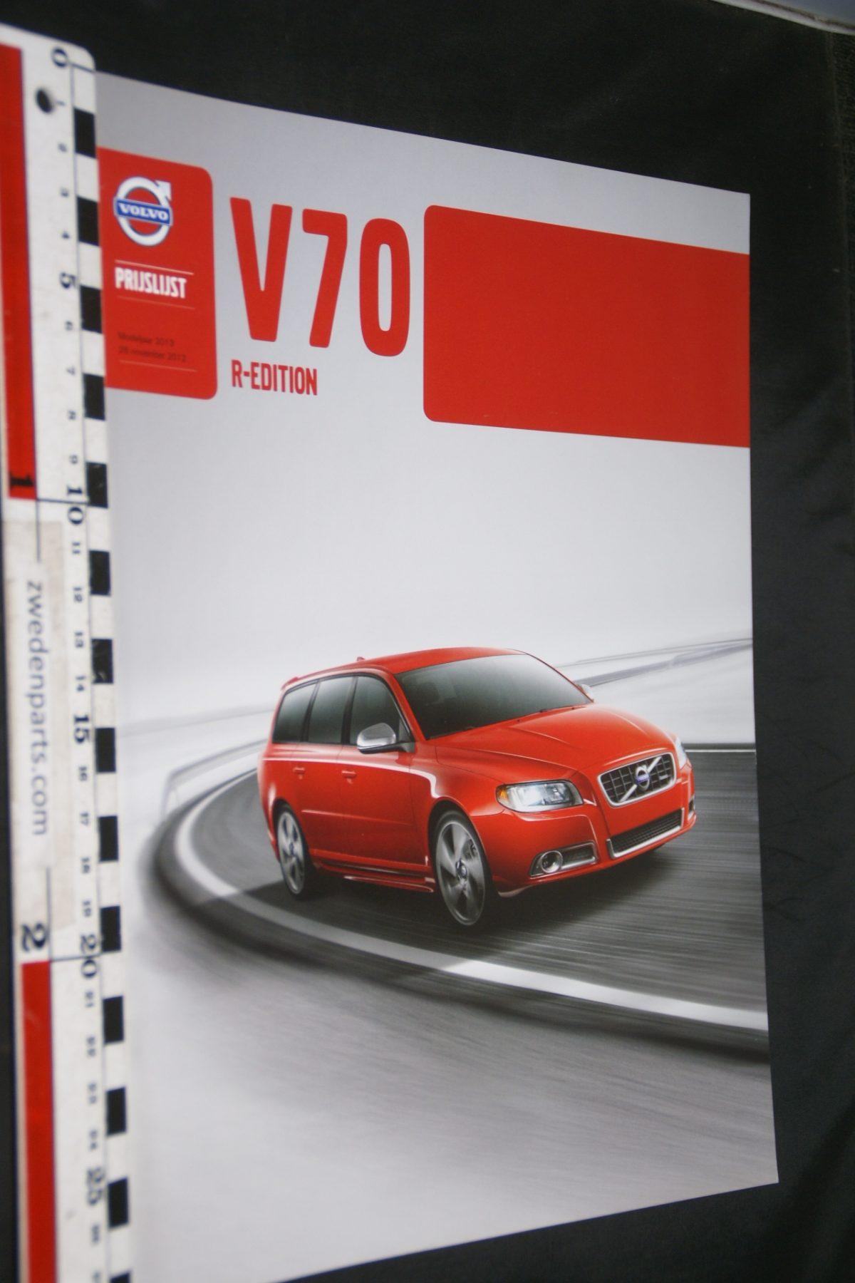 DSC06062 2012 brochure prijslijst Volvo V70R nr V70REMY13 10-2012-V2