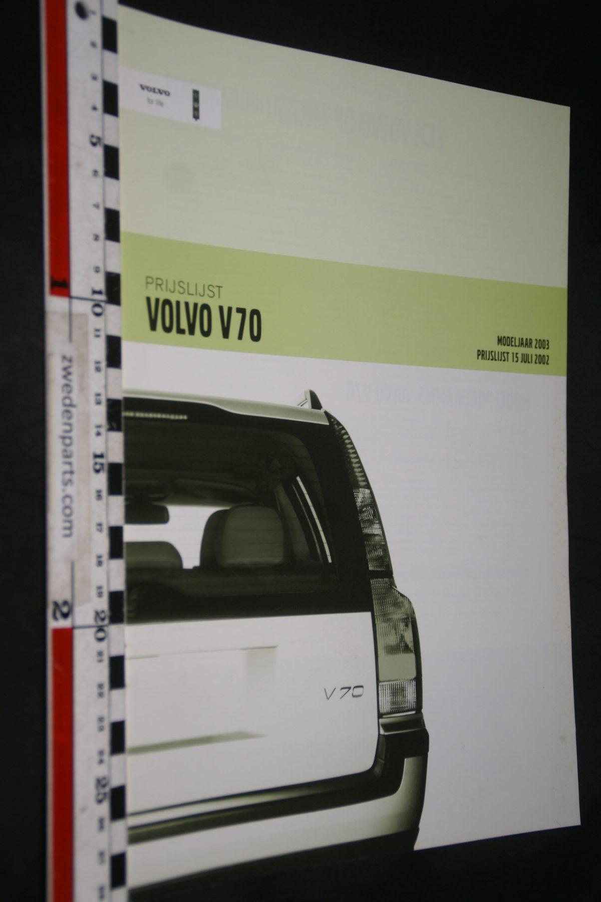 DSC06066 2002 brochure prijslijst Volvo V70 nr MY03V70 09-02-V2