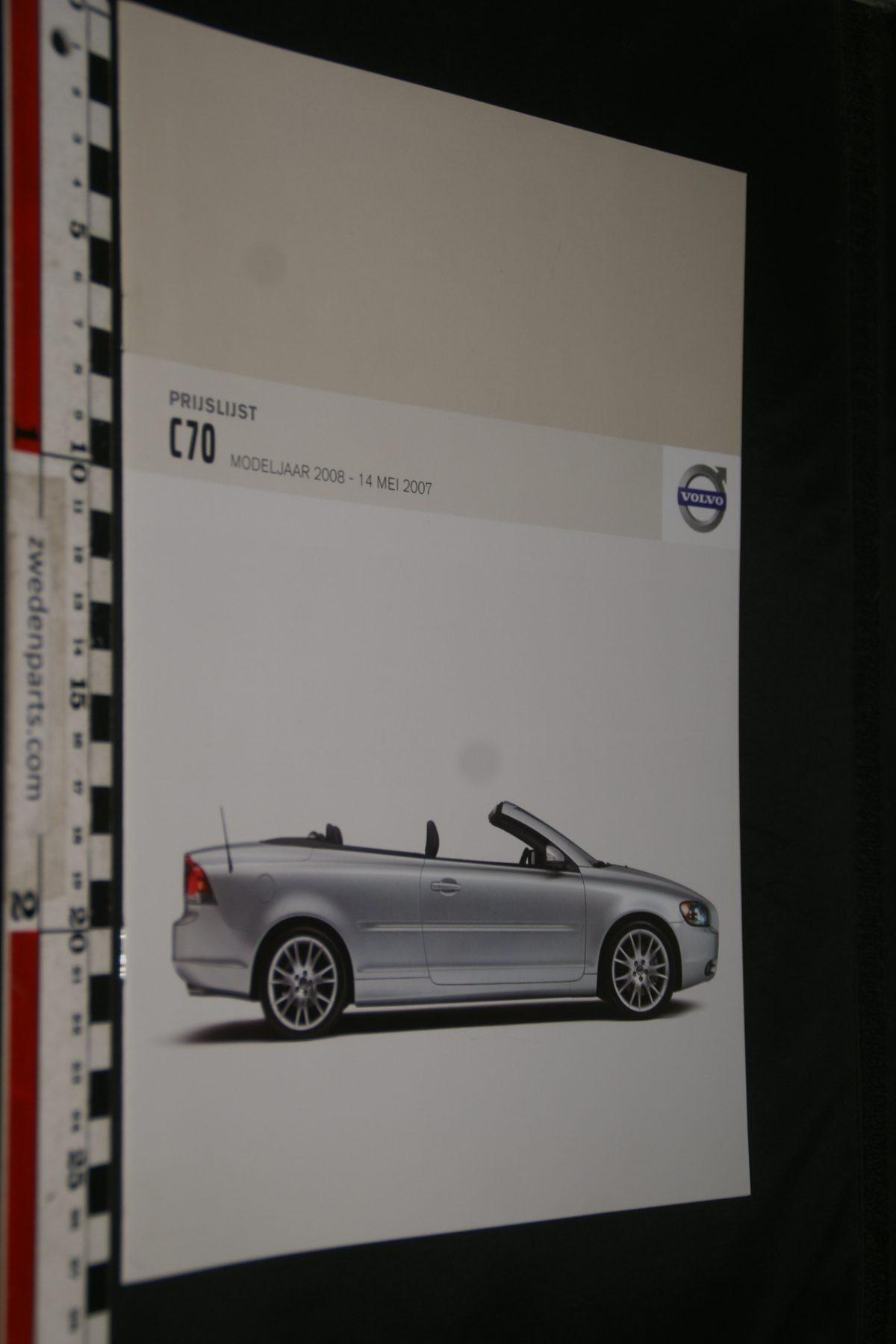 DSC06068 2008 brochure prijslijst Volvo C70 nr C70MY08 03-07-V1
