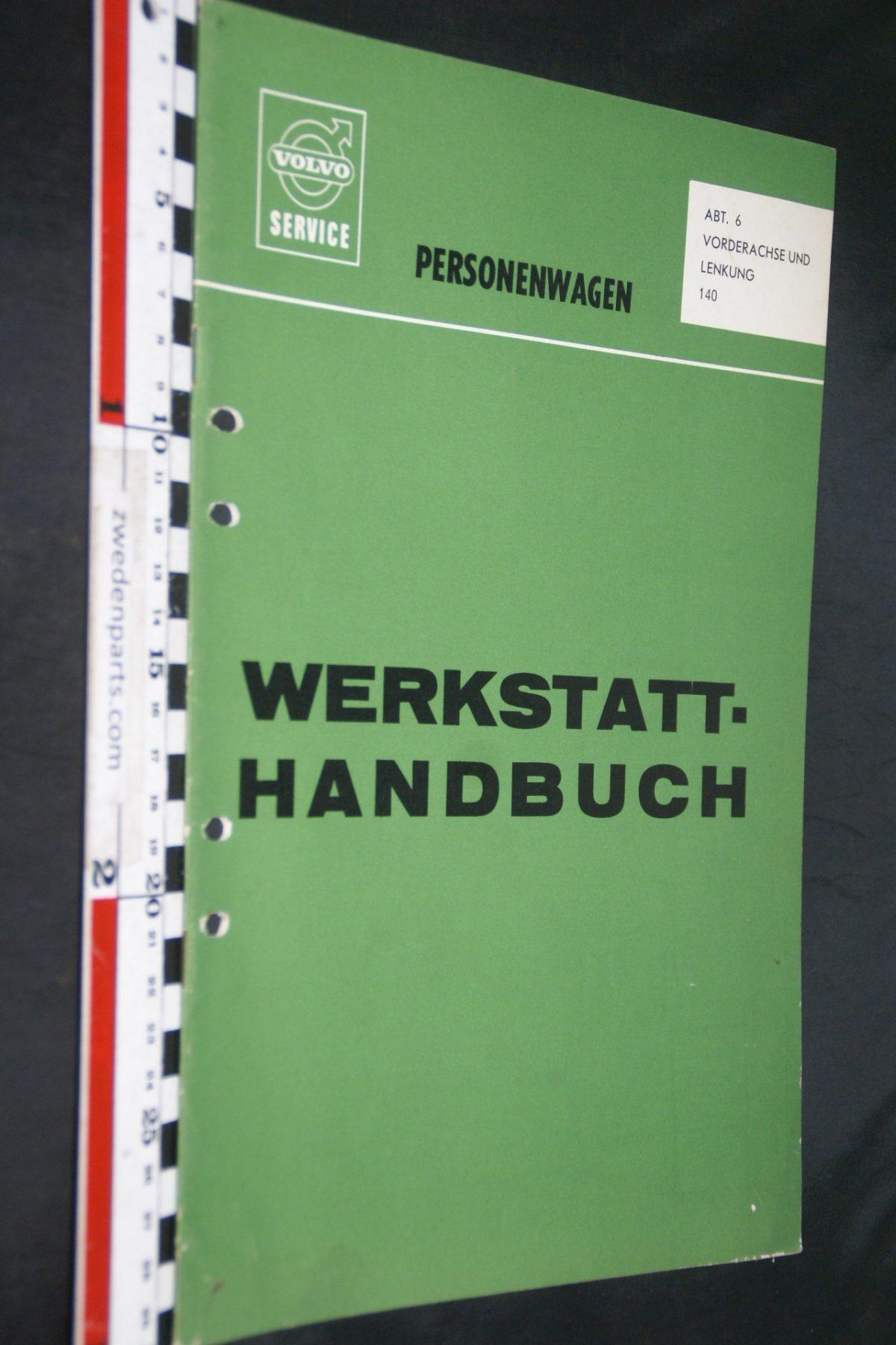 DSC06703 1970 origineel Volvo 140 servicehandboek  6 vooras 1 van 1.500 TP 10587-1, Deutsch