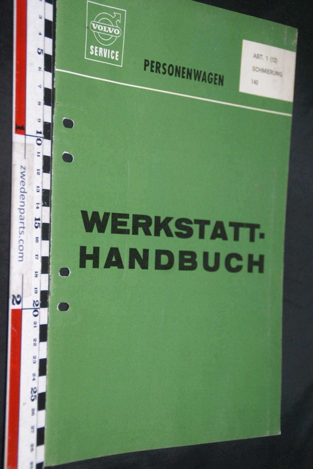 DSC06707 1969 origineel Volvo 140 servicehandboek  1 (12) smering 1 van 1.500 TP 10496-1, Deutsch
