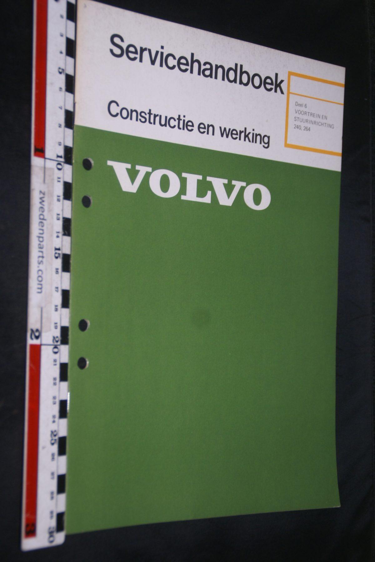 DSC06725 1974 origineel Volvo 240, 260 servicehandboek 6 voortrein en stuurinrichting 1 van 500 TP 11005-1