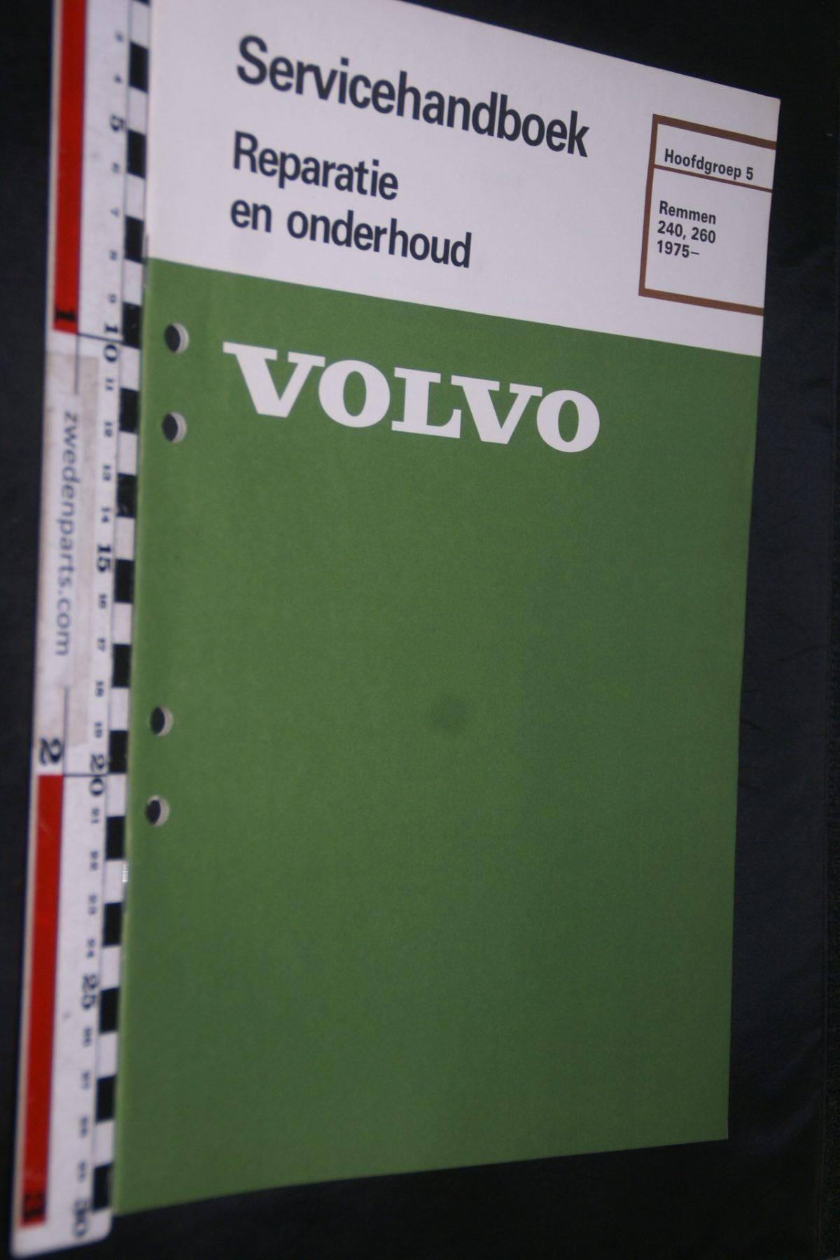 DSC06730 1982 origineel Volvo 240, 260 servicehandboek 5 remmen 1 van 800 TP 11489-2
