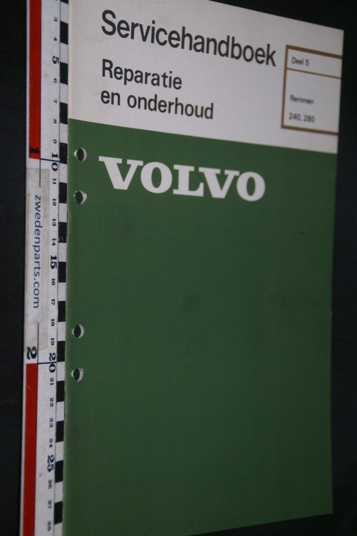 DSC06732 1977 origineel Volvo 240, 260 servicehandboek 5 remmen 1 van 800 TP 11489-1