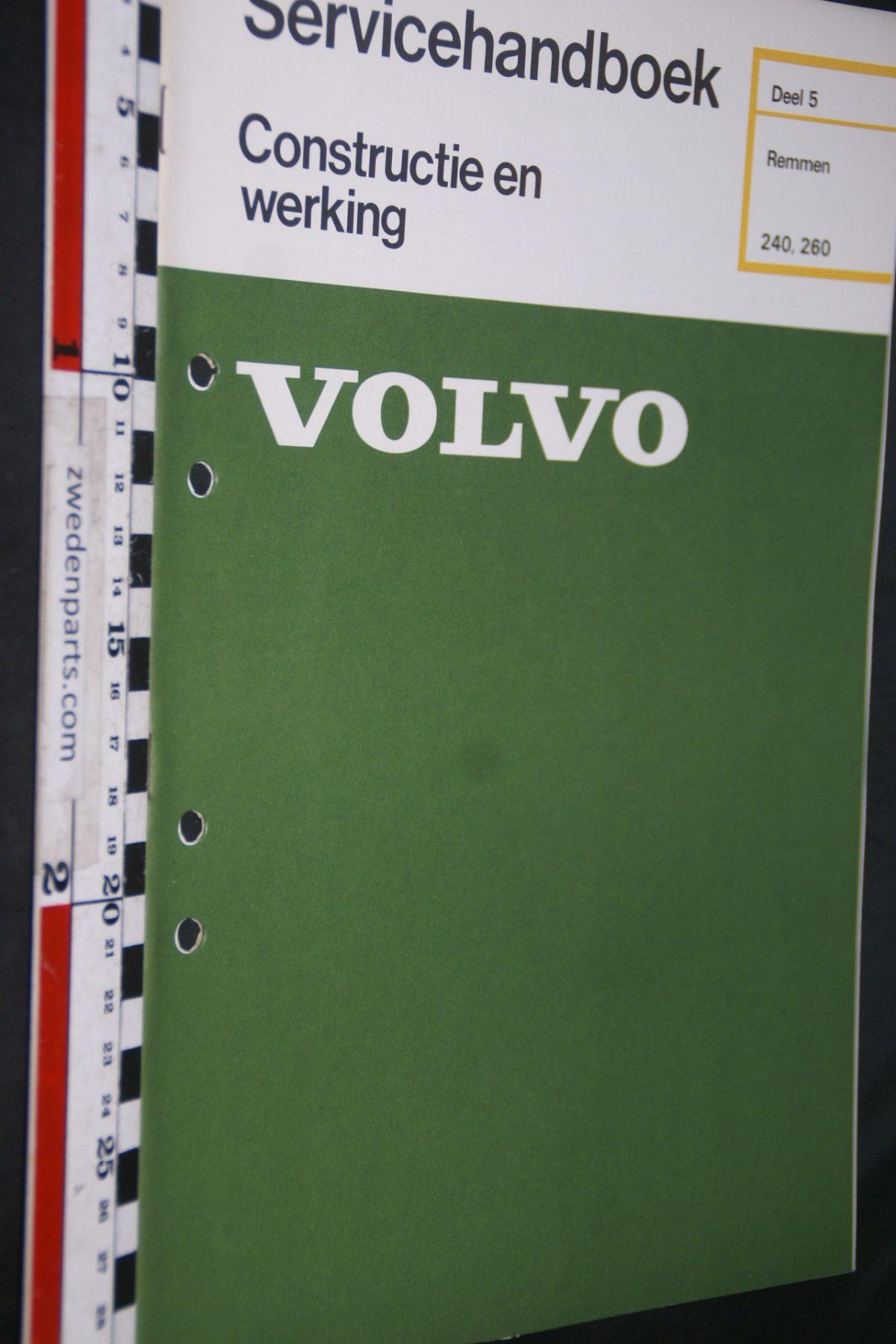 DSC06734 1976 origineel Volvo 240, 260 servicehandboek 5 remmen 1 van 800 TP 11482-1