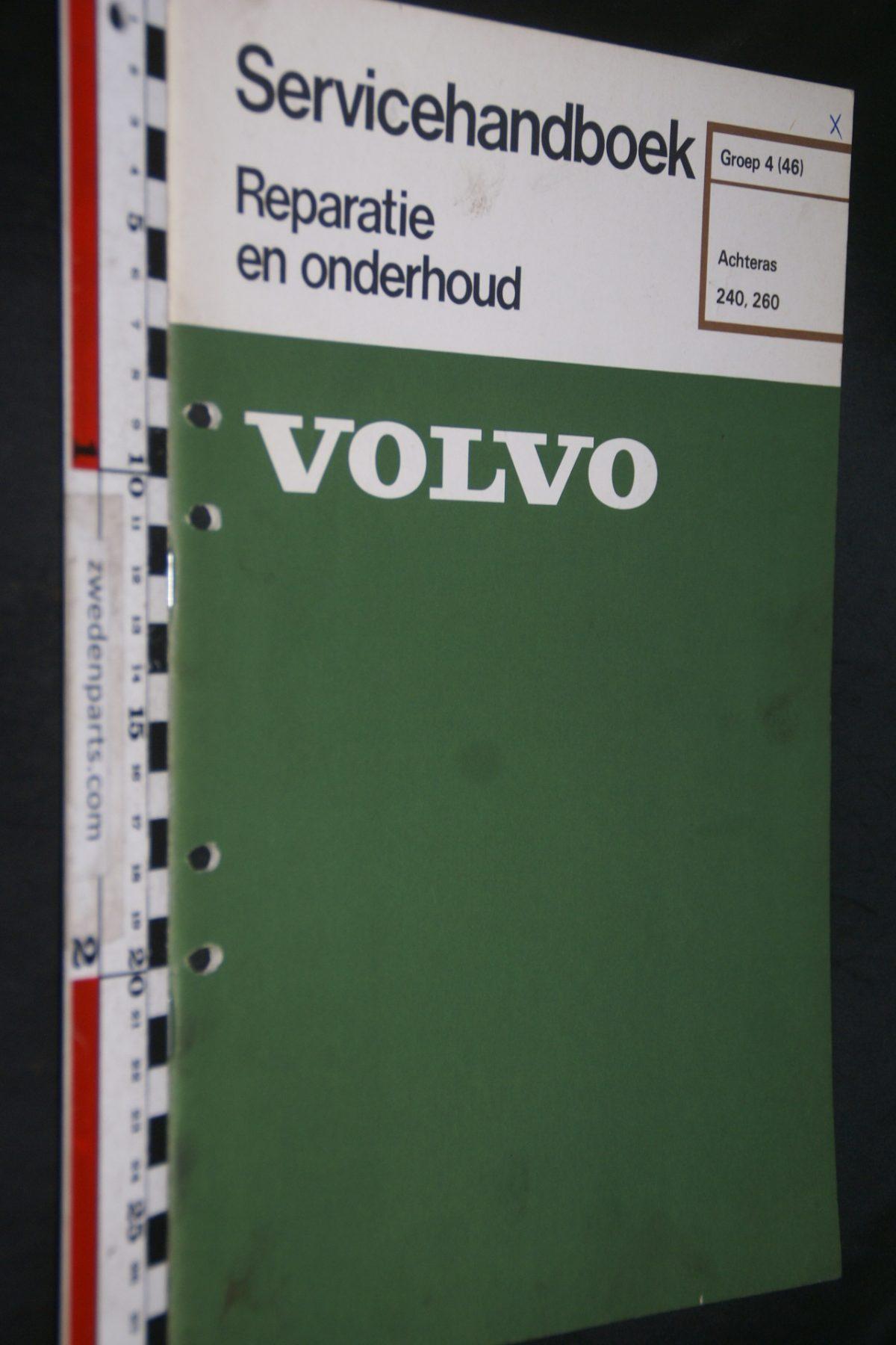 DSC06738 1977 origineel Volvo 240, 260 servicehandboek 4 (46) achteras 1 van 750 TP 11560-1