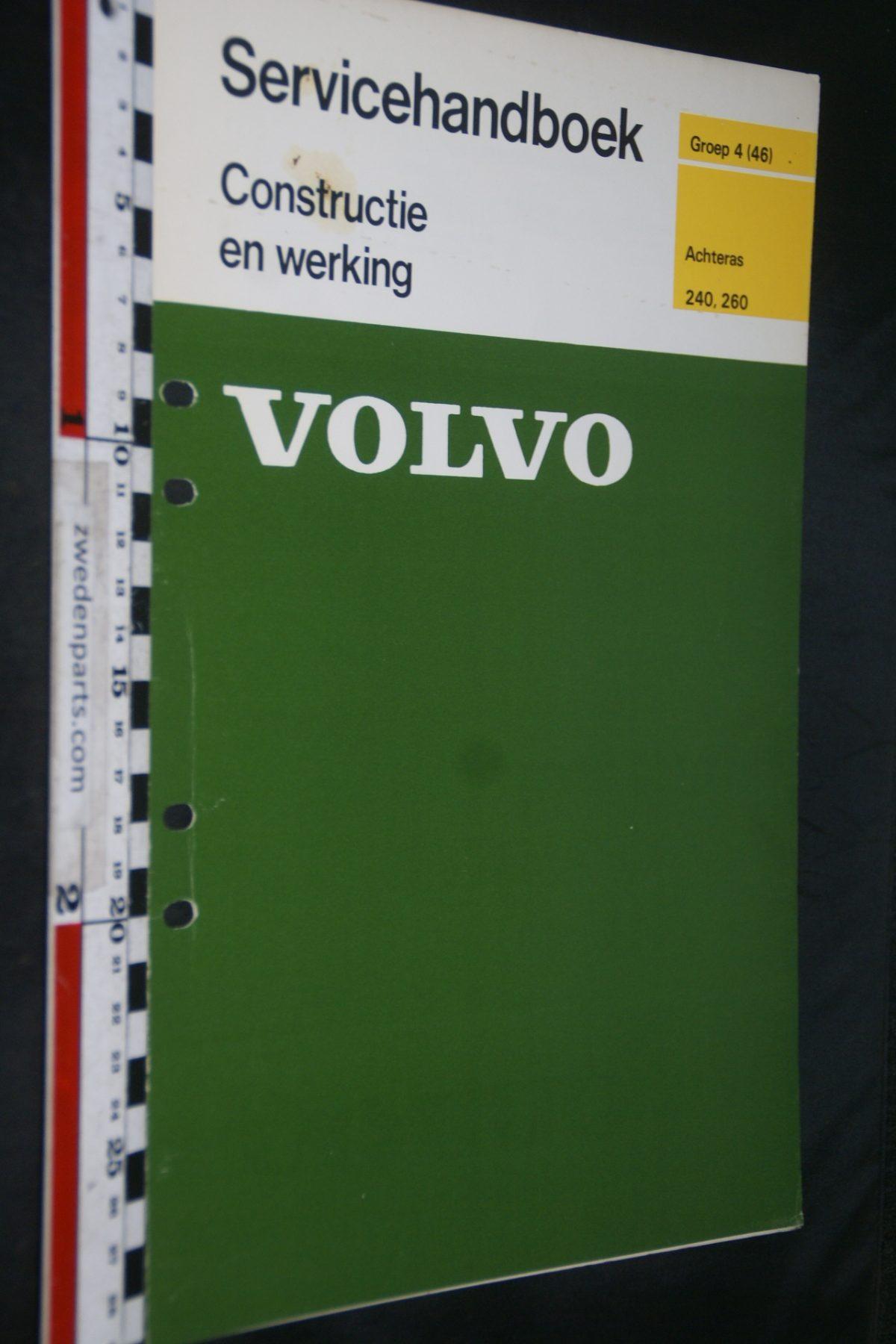 DSC06740 1976 origineel Volvo 240, 260 servicehandboek 4 (46) achteras 1 van 750 TP 11567-1