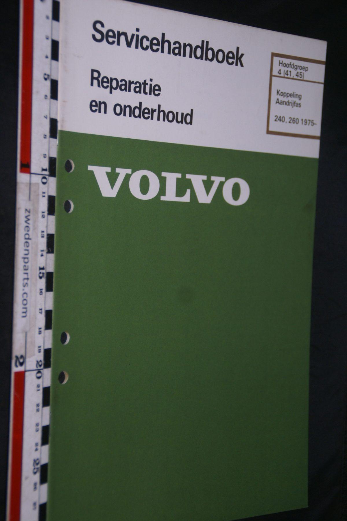 DSC06746 1982 origineel Volvo 240, 260 servicehandboek 4 (41,45) koppeling, aandrijfas 1 van 800 TP 30444-1