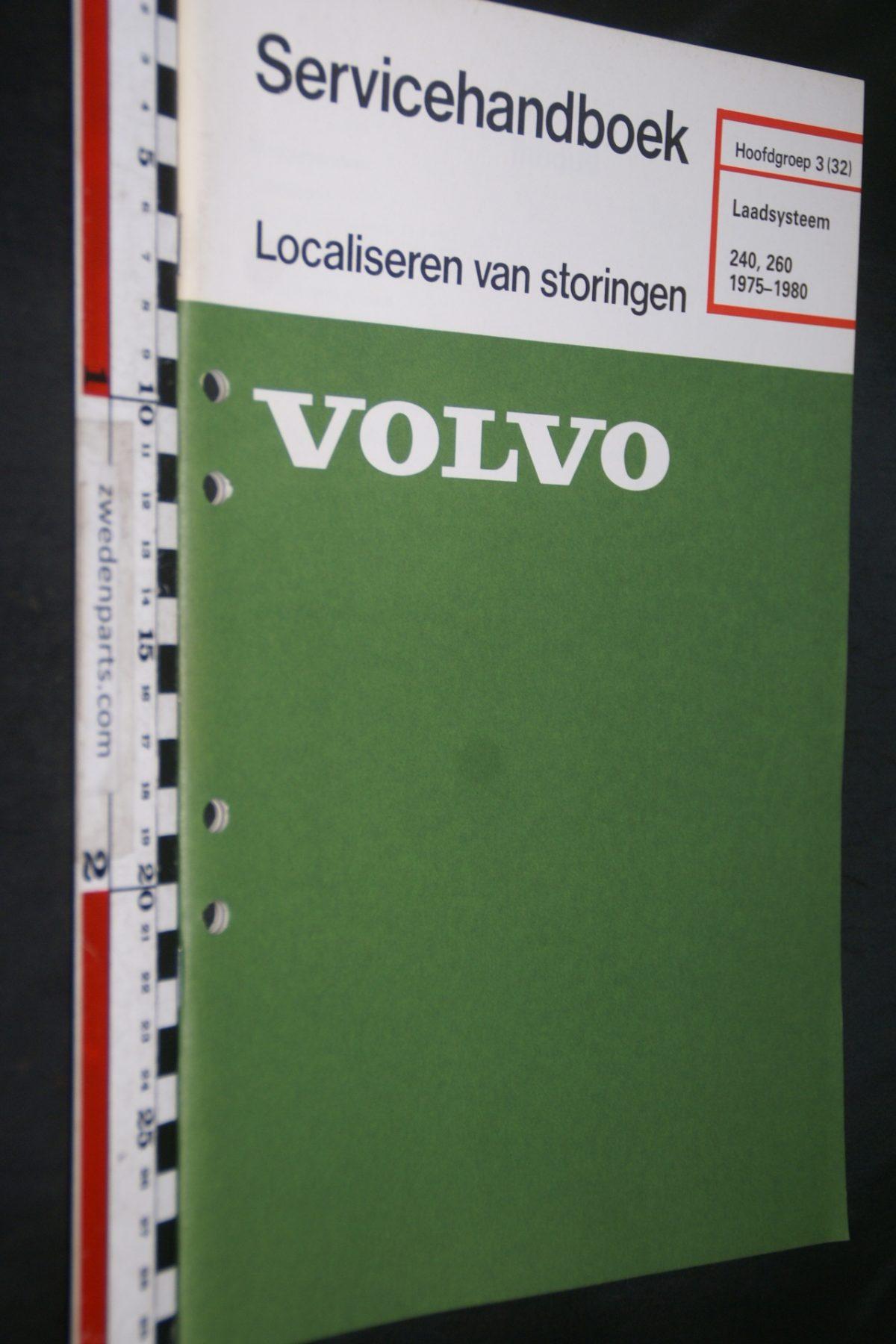 DSC06756 1980 origineel Volvo 240, 260 servicehandboek 3 (32) laadsysteem 1 van 800 TP 30122-1