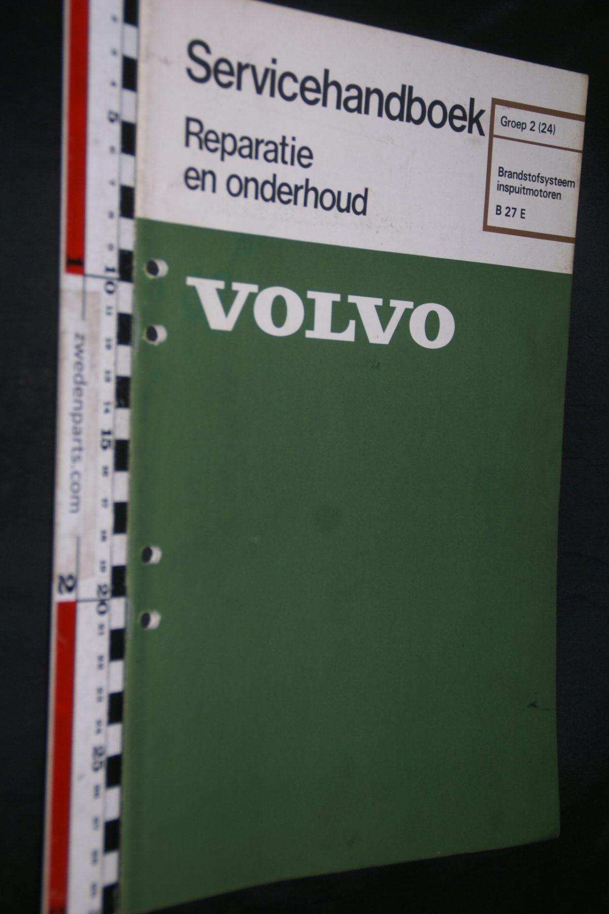 DSC06764 1977 origineel Volvo B27, 260 servicehandboek 2 (24) brandstofsysteem inj motoren 1 van 750 TP 11547-1