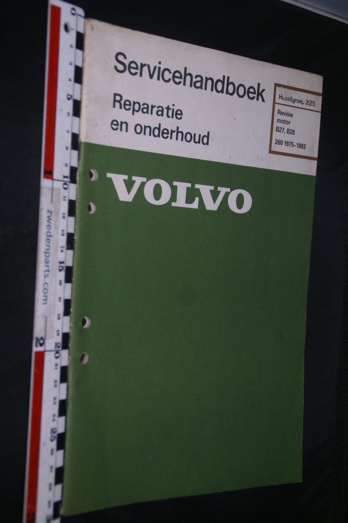 DSC06766 1982 origineel Volvo 260 servicehandboek 2(21) revisie motor B27, B28 1 van 800 TP 30451-1