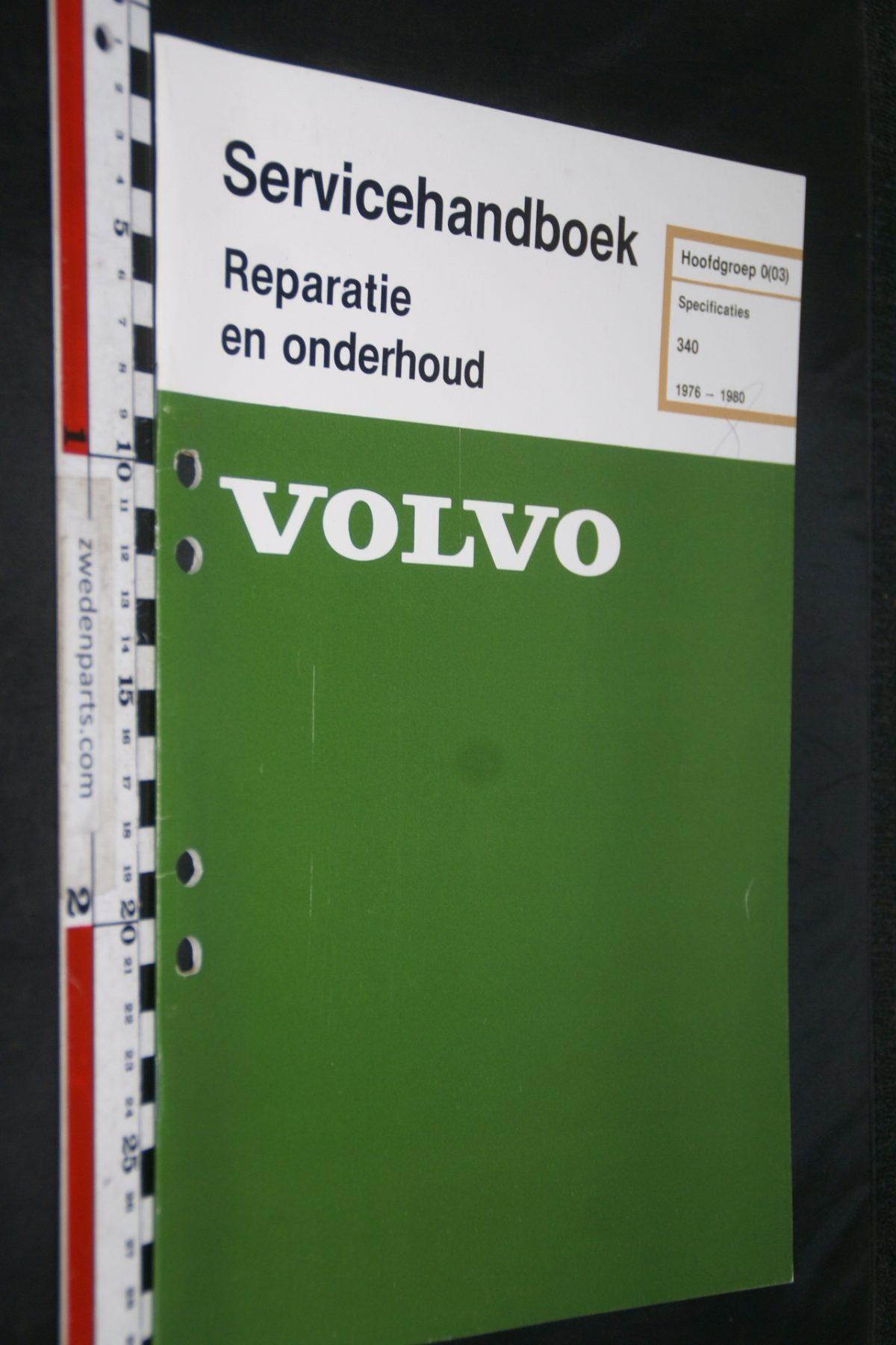 DSC06768 1979 origineel Volvo 340 servicehandboek 0 (03) specificaties 1 van 600 TP 35028-1