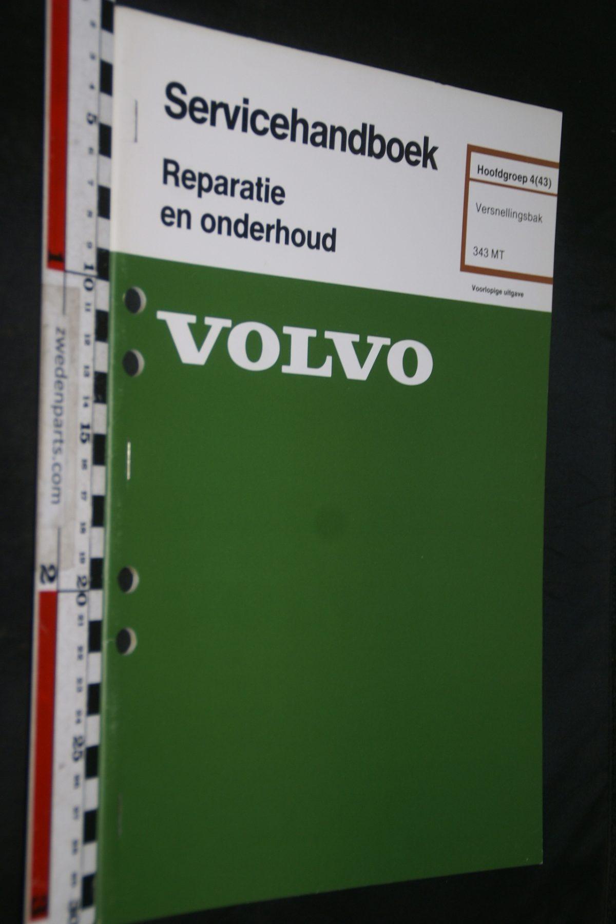 DSC06780 1978 origineel Volvo 340 servicehandboek 4(43) versnellingsbak MT 1 van 600 TP 12529-1