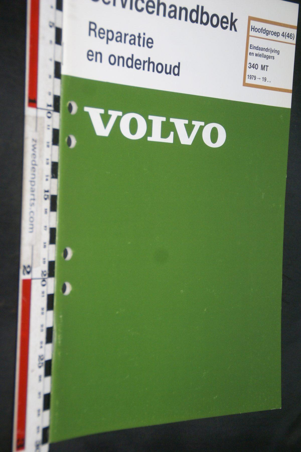DSC06782 1979 origineel Volvo 340  MT servicehandboek 4(46) eindaandrijving en lagers 1 van 800 TP 12436-2