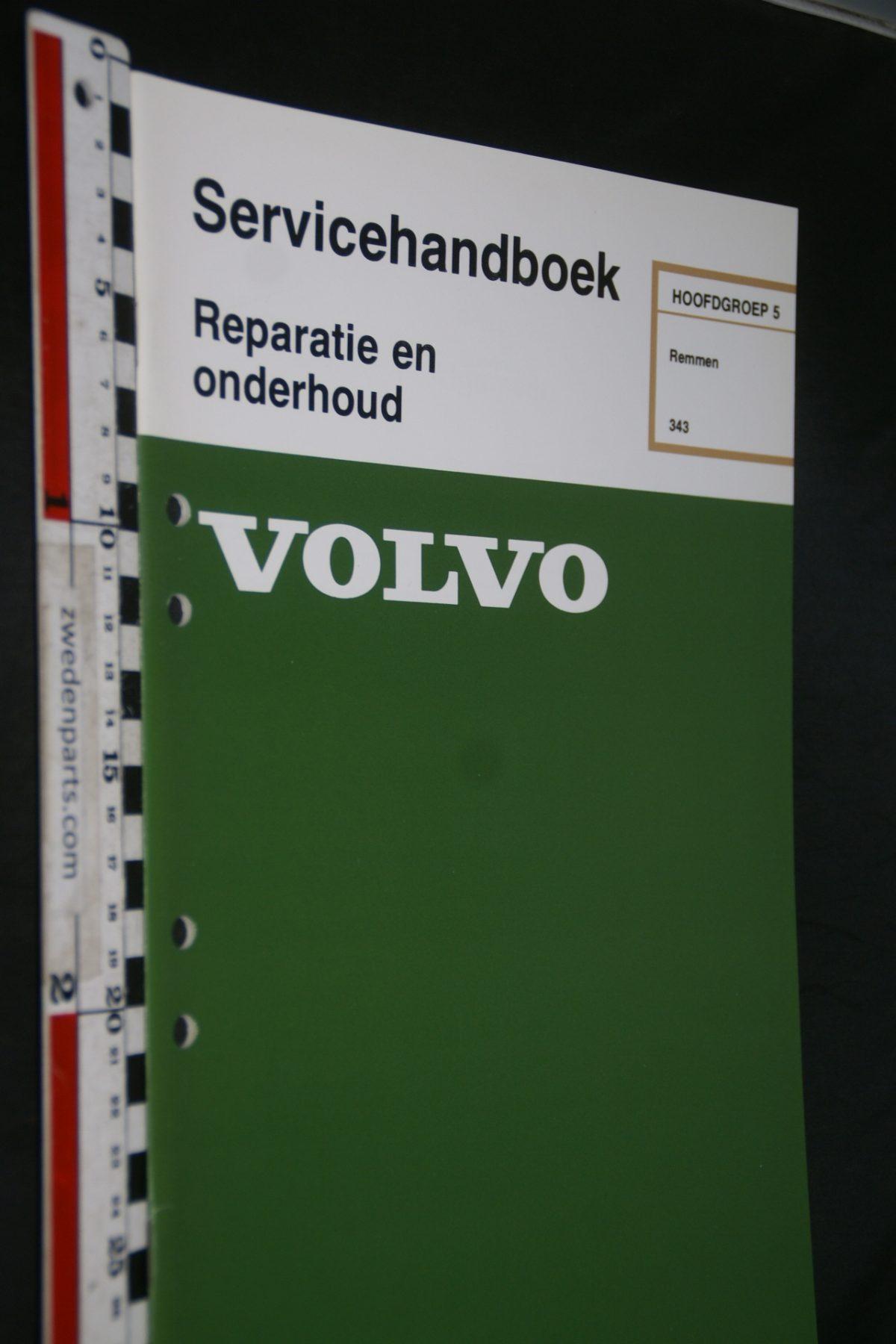 DSC06784 1978 origineel Volvo 343 servicehandboek 5 remmen 1 van 800 TP 12158-1