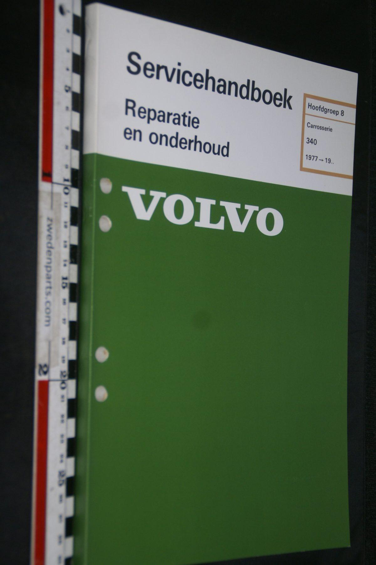 DSC06788 1981 origineel Volvo 340 servicehandboek 8 carosserie 1 van 800 TP 11981-2