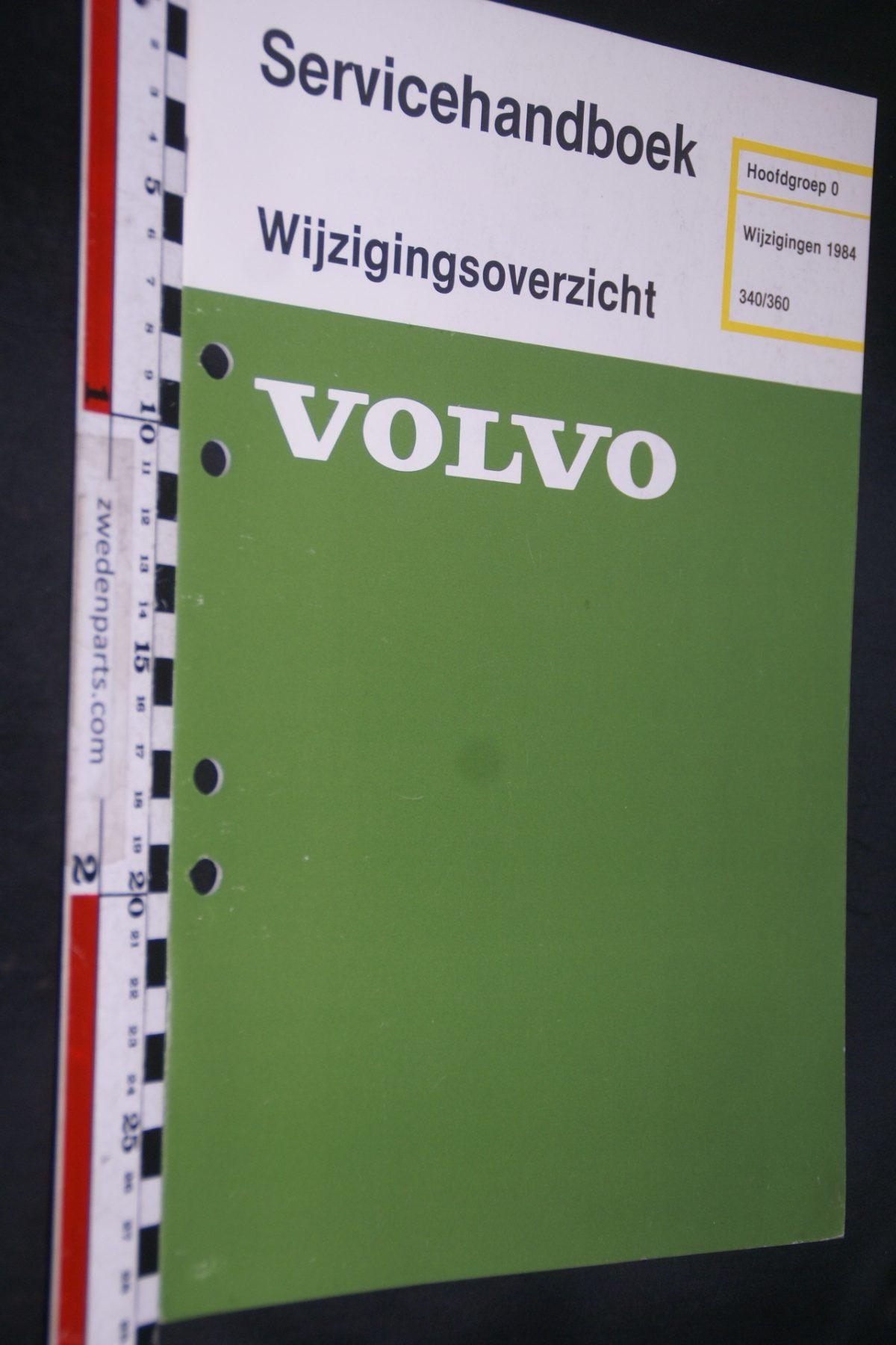 DSC06790 1983 origineel Volvo 340-360 servicehandboek 0  wijzigingen 1984 1 van 1.000 TP 35164-1