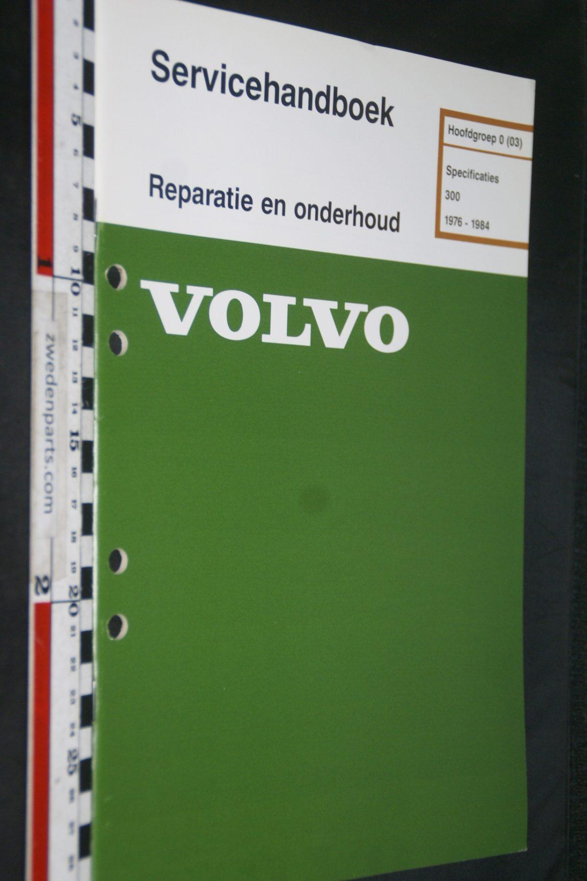 DSC06792 1983 origineel Volvo 300 servicehandboek 0 specificaties 1 van 900 TP 35028-5