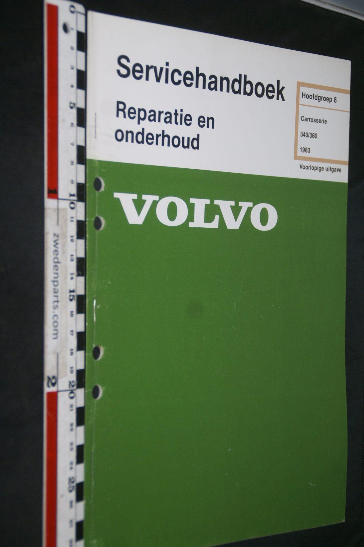 DSC06814 1982 origineel Volvo 340,360 servicehandboek 8 carosserie 1 van 800 TP 35120-1