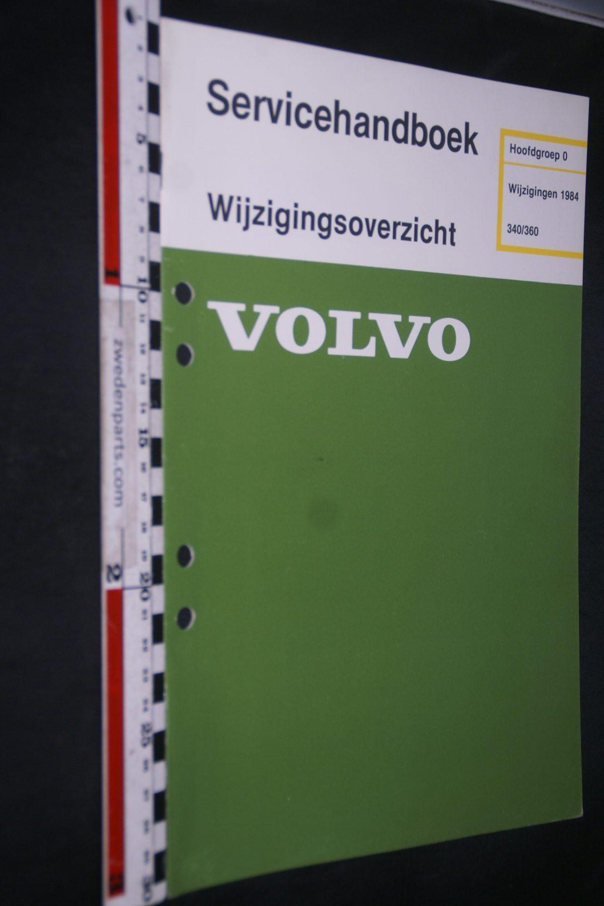 DSC06818 1983 origineel Volvo 343 servicehandboek 0 wijzigingen 1984 1 van 800 TP 35264-1