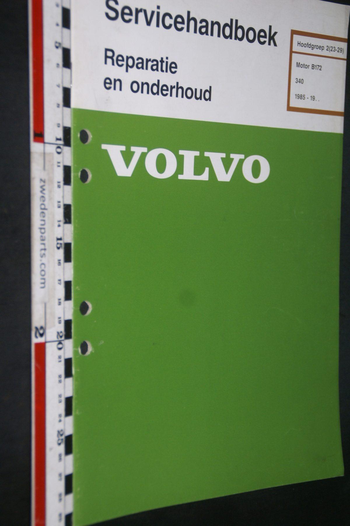 DSC06826 1985 origineel Volvo 340 servicehandboek 2 (23-29) motor B172 1 van 1000 TP 35266-1